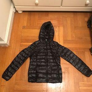 Uniqlo ultra light down jacket coat with hood